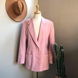 Vintage Jackets & Coats - Vintage Pink Blazer